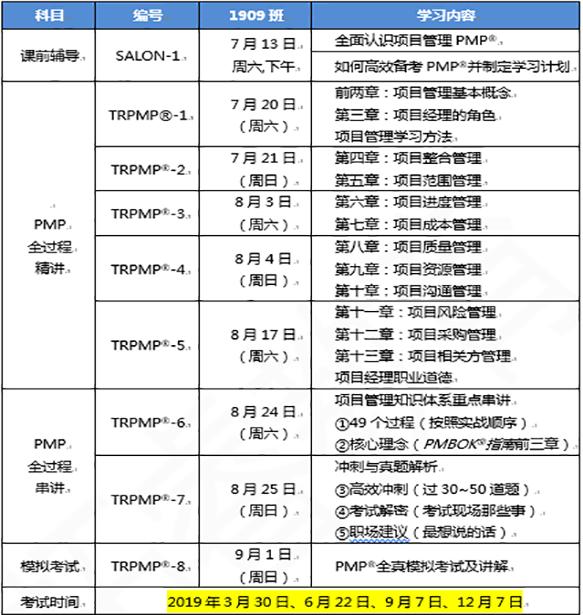 2019年项目管理PMP课表-南山.png